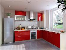 晶钢板橱柜效果图 晶钢门板橱柜效果图 小厨房橱柜整体效